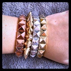 Stretch studded bracelets